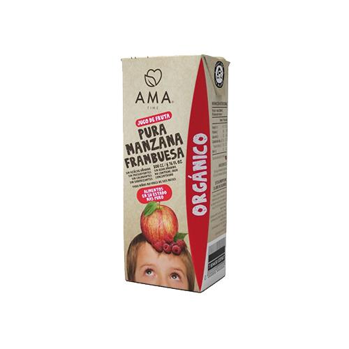 jugo de manzana frambuesa