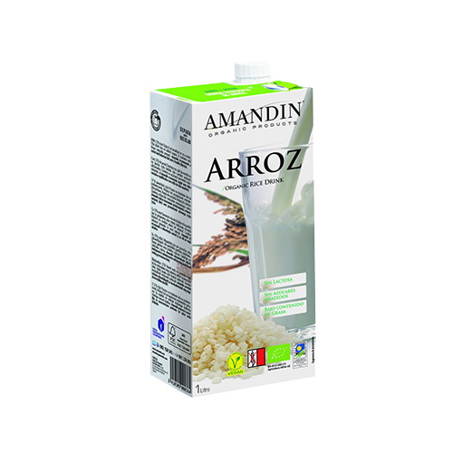 leche de arroz orgánica