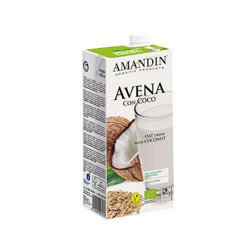 leche de avena con coco