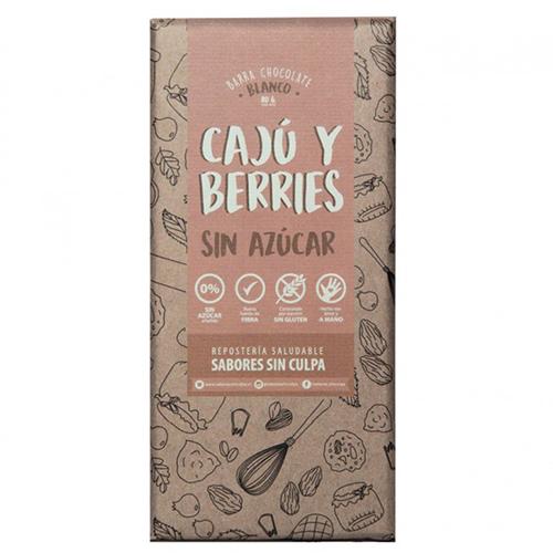 Chocolate blanco con cajú y berries