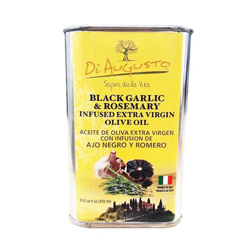 Aceite de Oliva Extra Virgen Infusionado con Ajo Negro con Romero DiAugusto 250 ml