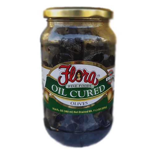 Aceitunas en Aceite Curado Flora 580 ml