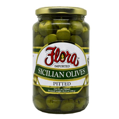 Aceitunas Sicilianas Descarozadas Flora 540 ml