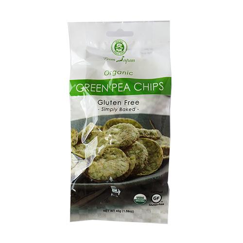 Chips de Arvejas Sin Gluten Kokoro Bio 45 grs